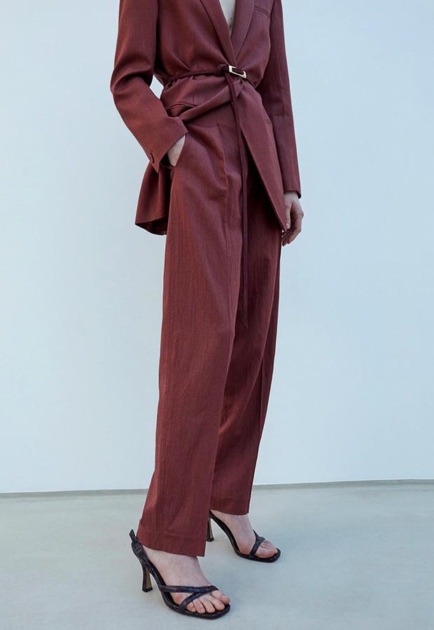 pantalones tendencia 2020 Sfera Pantalón con pinzas