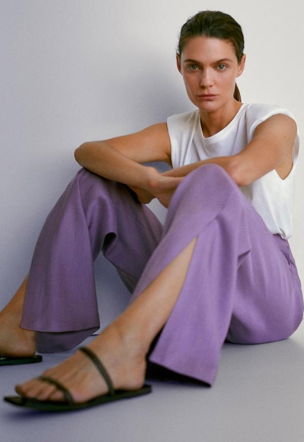 Pantalones de lino Massimo Dutti