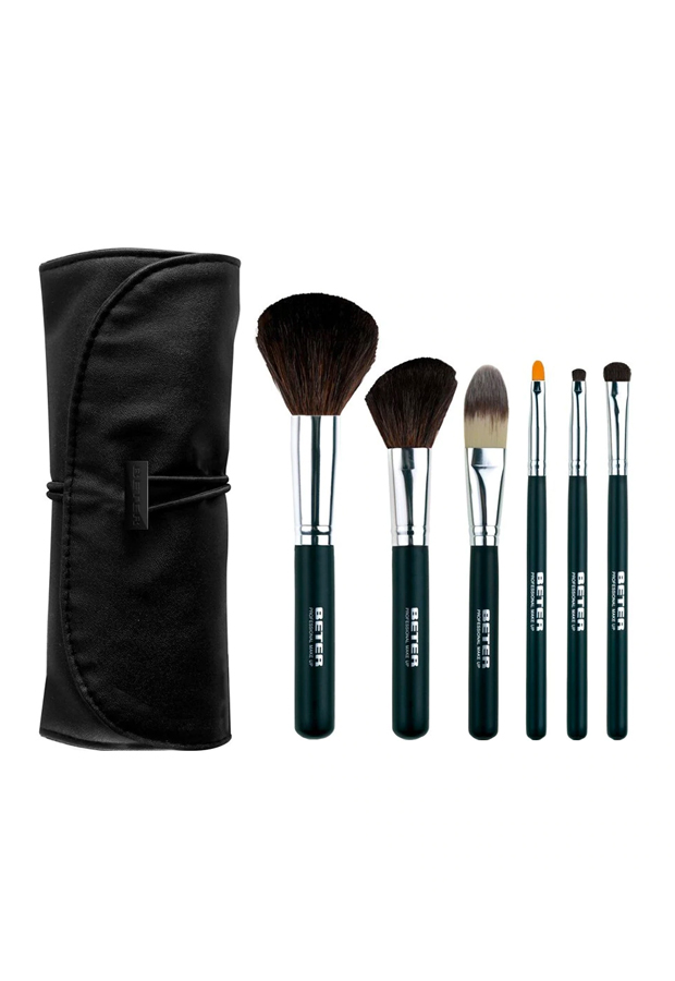basicos de belleza formato viaje Kit con 6 brochas de maquillaje profesional Beter