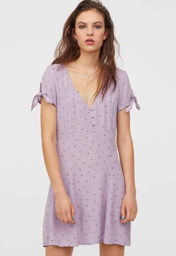 predas lila Vestido con escote en pico de H&M