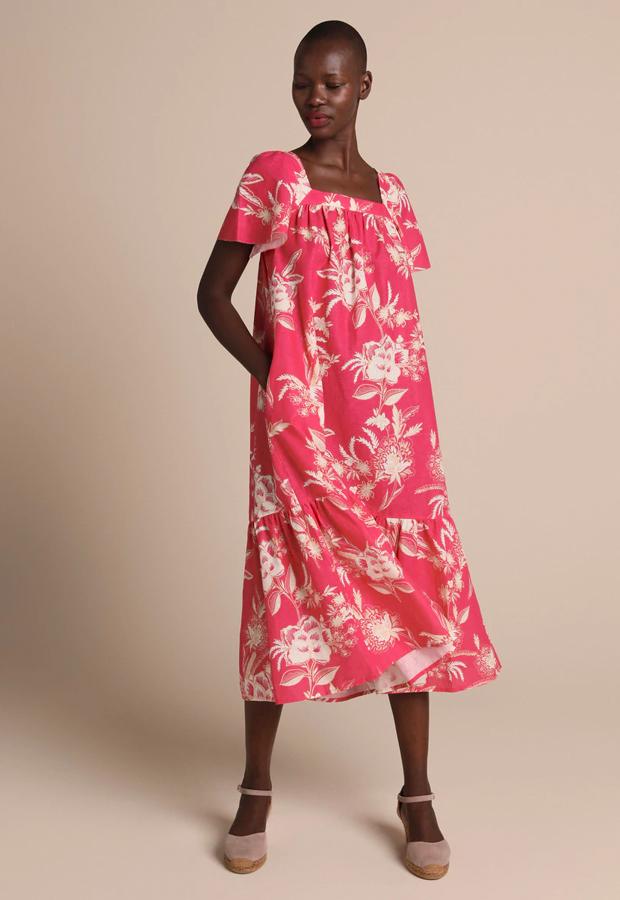 Vestido Woman Collection midi con estampado floral