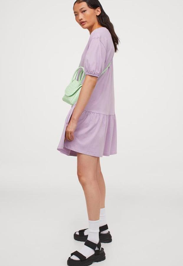 predas lila Vestido de punto lila H&M
