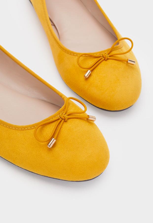 bailarinas baratas Bailarinas amarillas Parfois