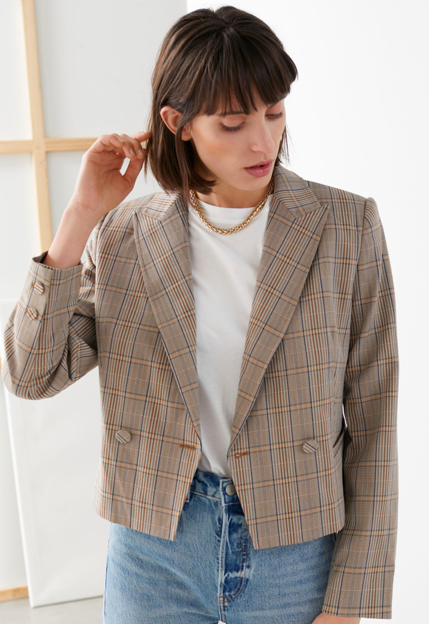 Cropped Double Breasted Blazer & Other Stories