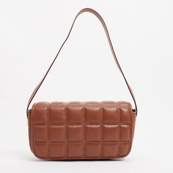 Bolso acolchado marrón de Asos