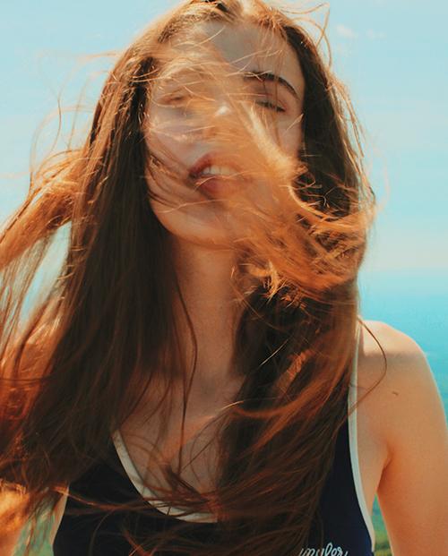cabello dañado por el sol