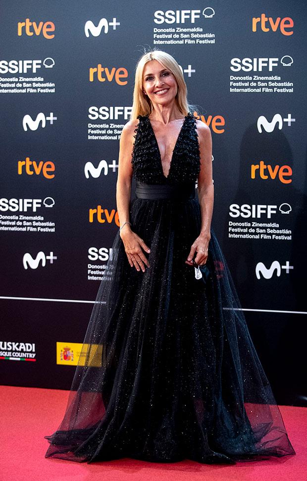 Cayetana Guillén Cuervo en el Festival de cine de San Sebastián 2020