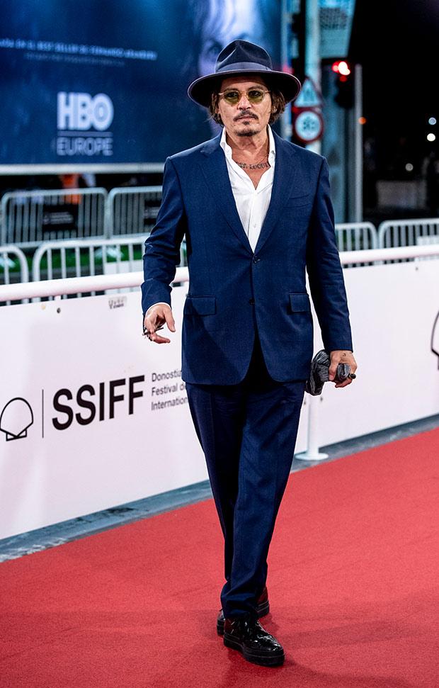 Johnny Depp en el Festival de cine de San Sebastián 2020