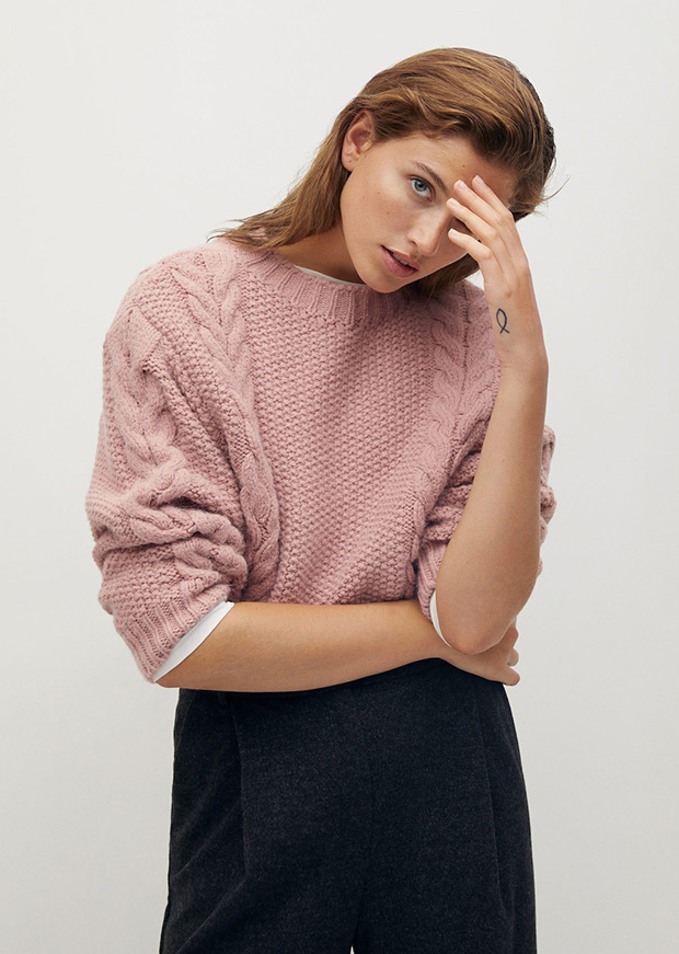 Jersey de Mango rosa palo