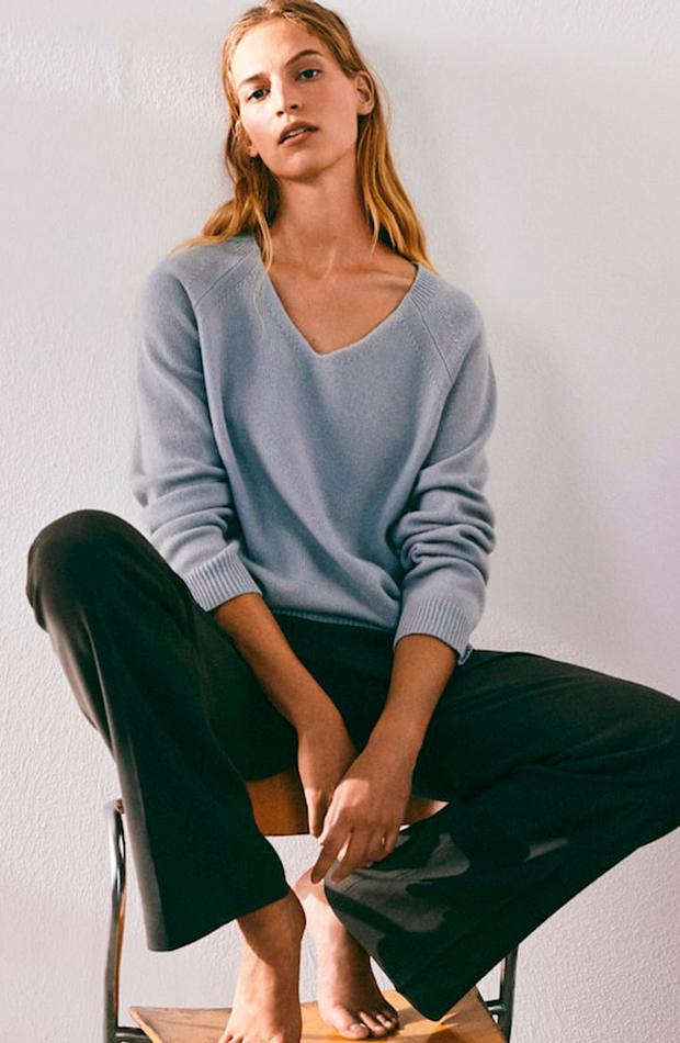 jerséis finos Jersey azul de Massimo Dutti
