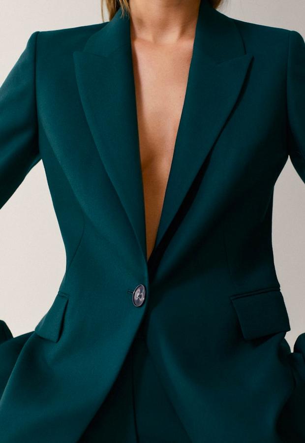 novedades Massimo Dutti Americana franela 100% lana