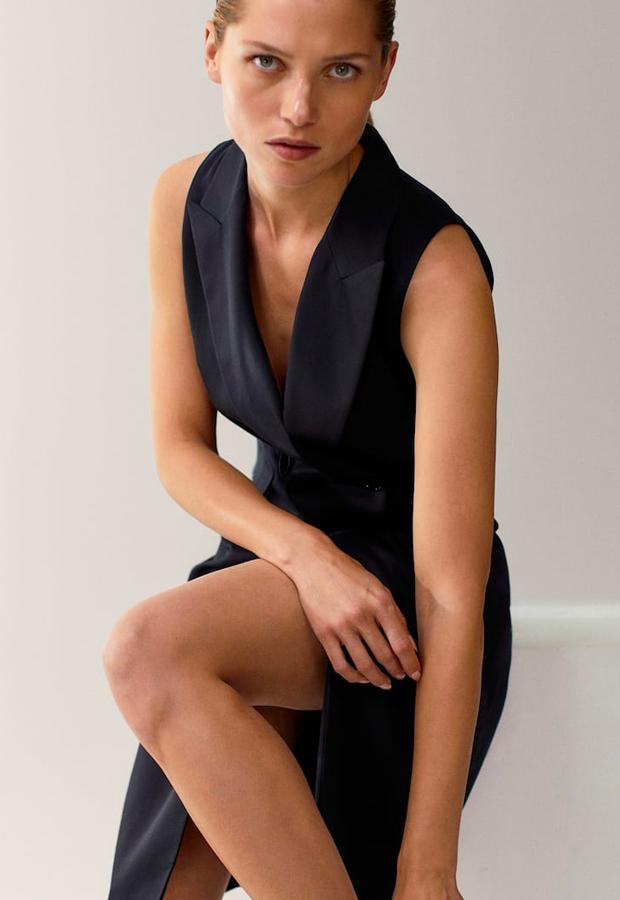 novedades Massimo Dutti Chaleco vestido negro