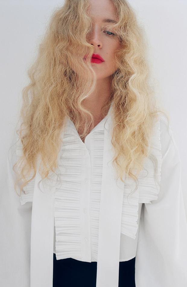 novedades de Zara camisa blanca