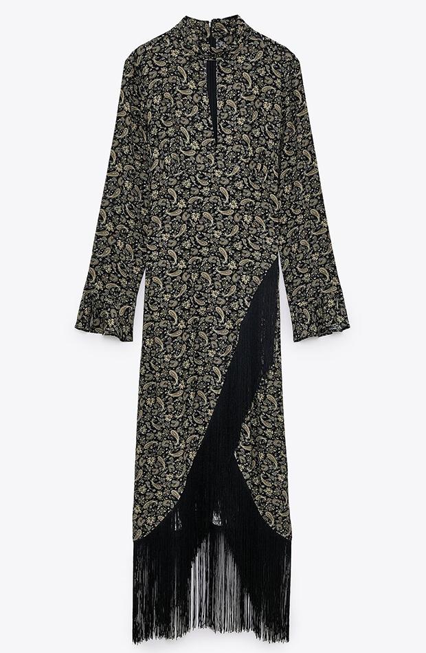 novedades de zara otoño 2020 vestido asímetrico