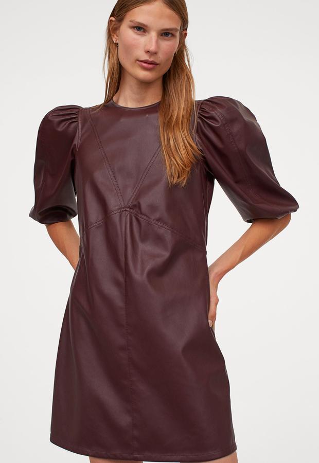 novedades hm otoño Vestido en piel sintética