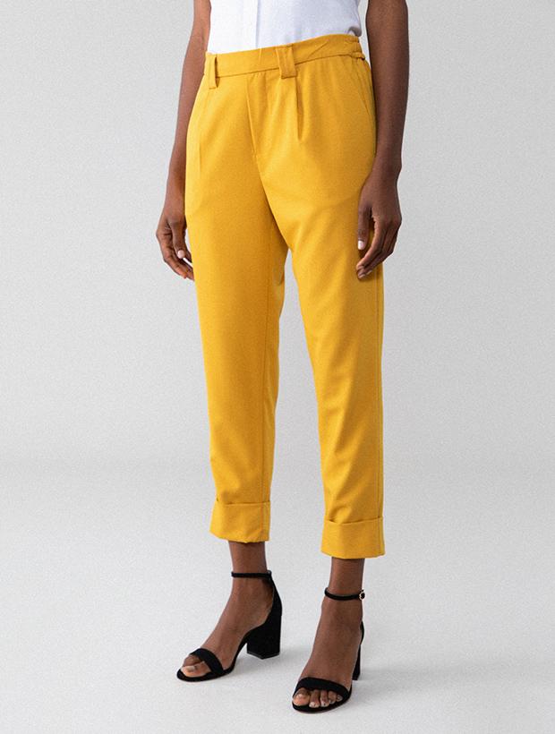 Pantalones amarillos de Lefties otoño 2020