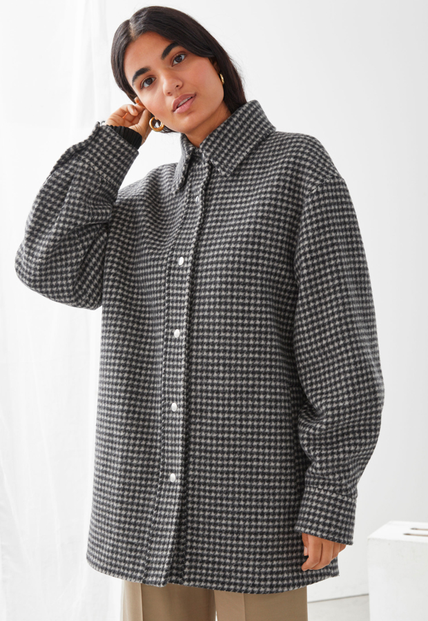 Other Stories Chaqueta estilo camisa oversize de lana reciclada