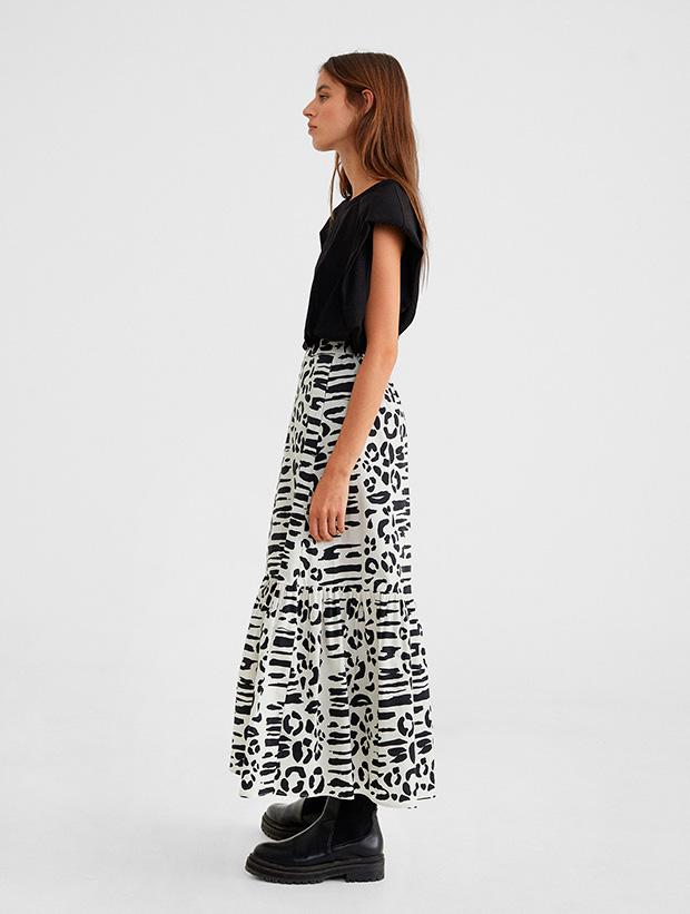 Falda de estampado animal de Parfois