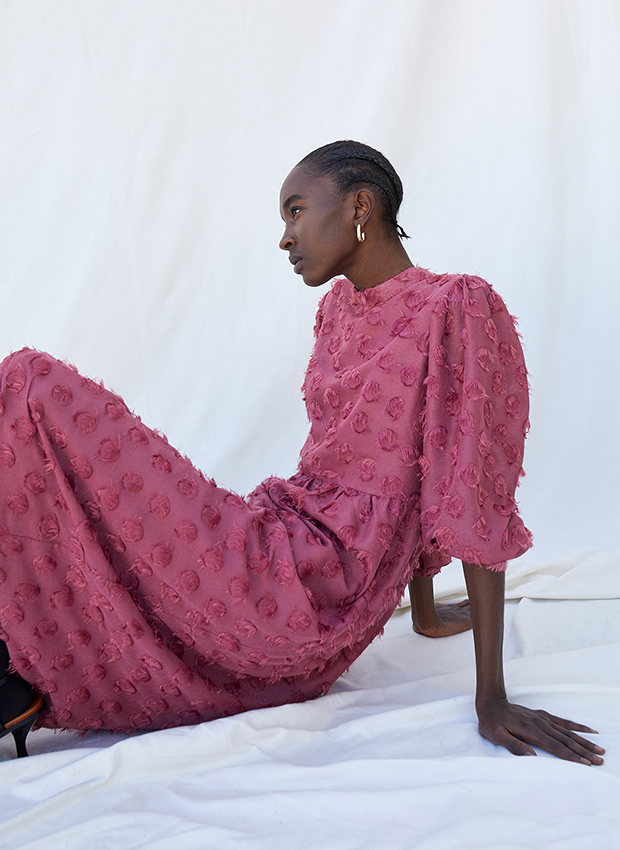 Vestido jacquard de Sfera otoño invierno 2020 2021