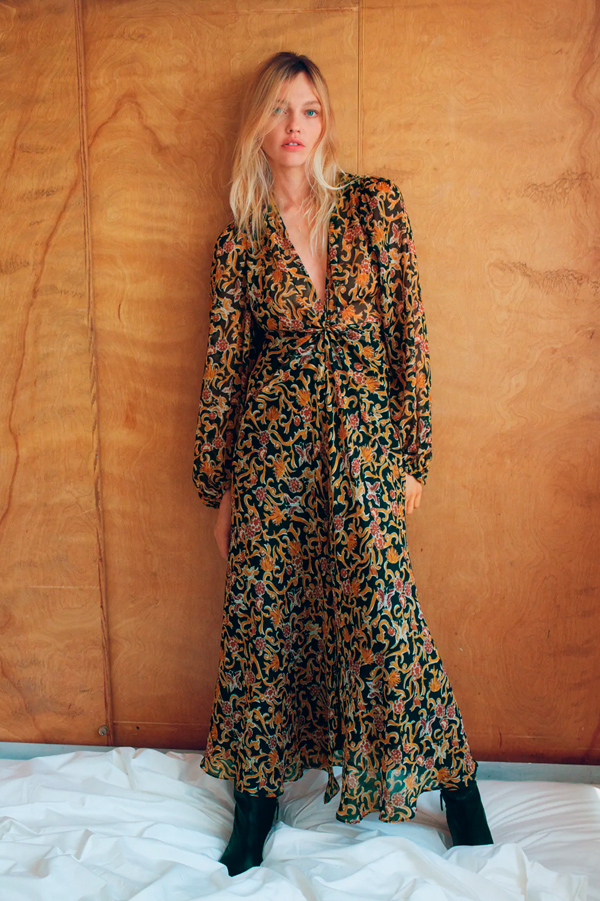 Vestido de Zara de estilo boho