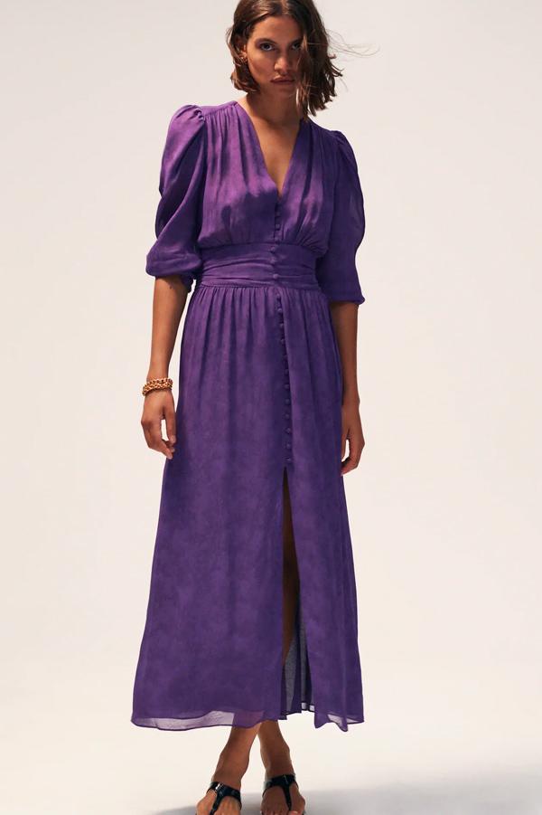 Vestido de Zara jacquard