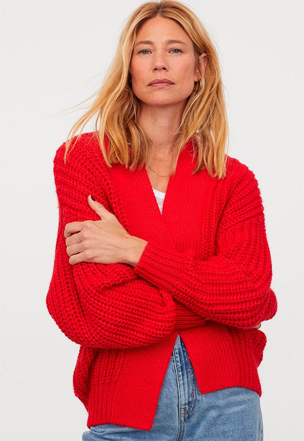 Cárdigan de H&M rojo