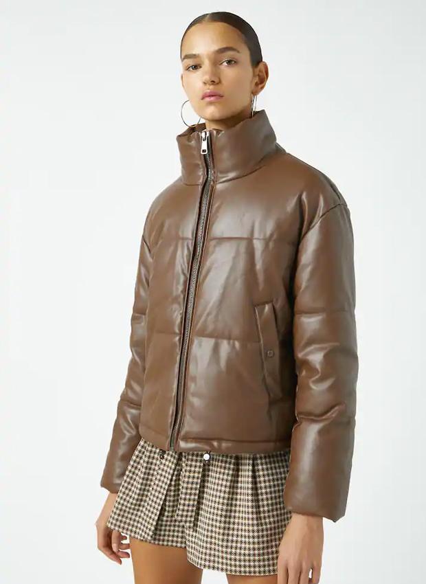 Chaqueta acolchada marrón de las novedades Pull&Bear otoño 2020