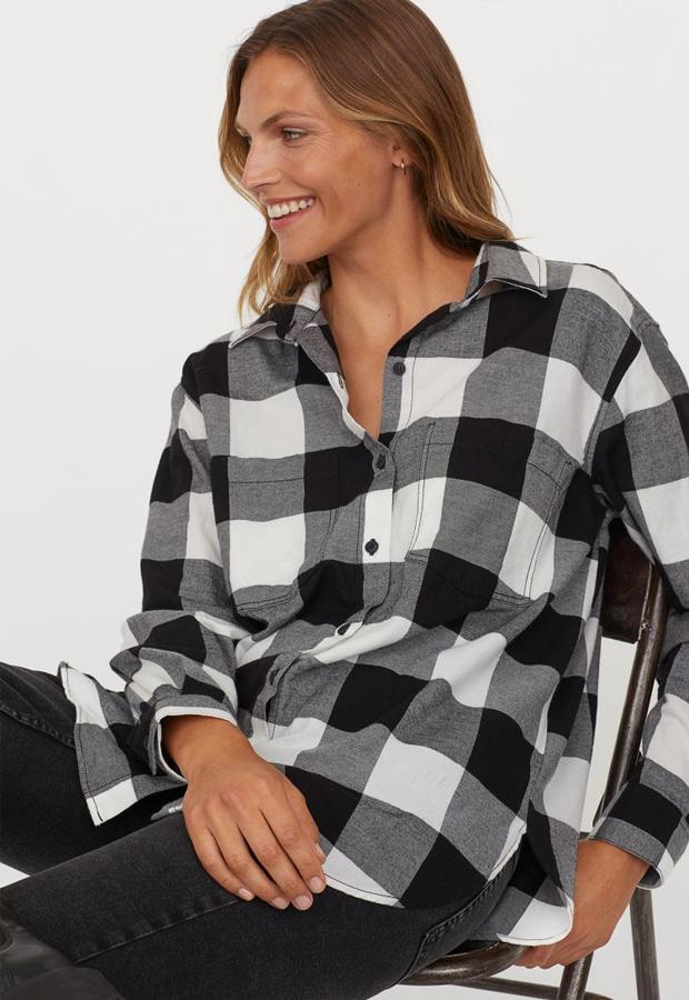 Camisa de franela de H&M de cuadros