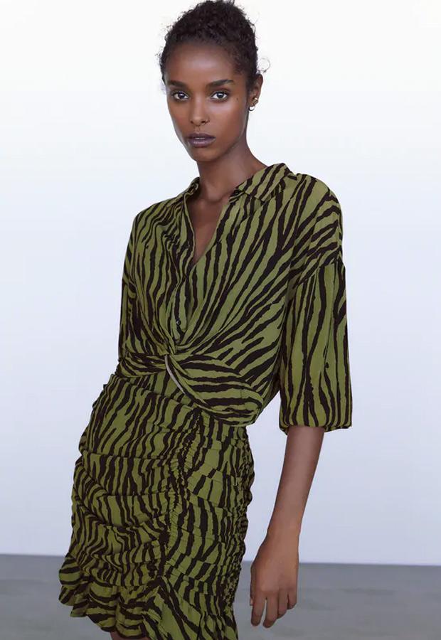 Minifalda de Zara con estampado de cebra