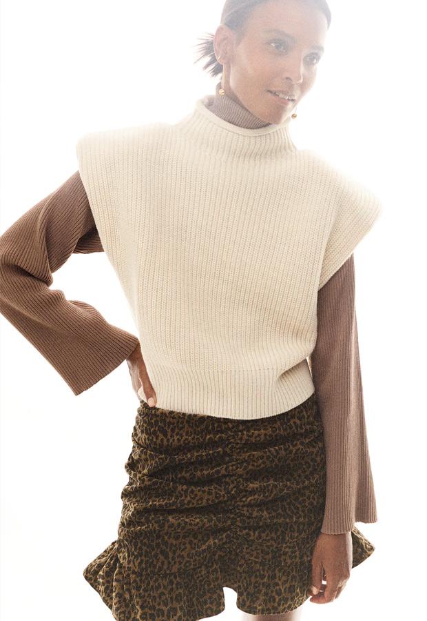 Minifalda de Zara de leopardo