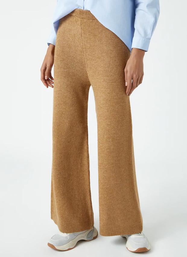 Pantalón culotte de punto de las novedades Pull&Bear otoño 2020