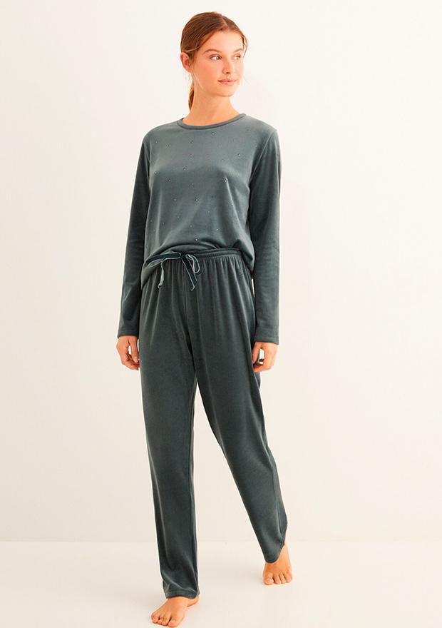 Pijama largo de velour de Women'secret otoño 2020