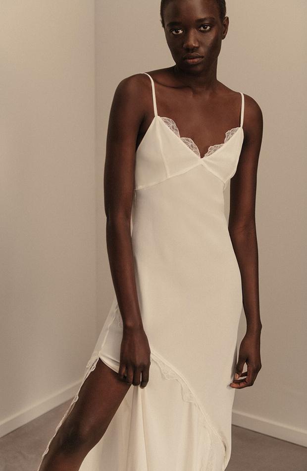 Vestido lencero de seda