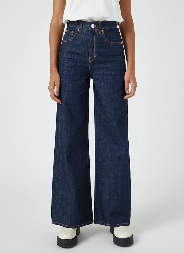 Jeans wide leg de las novedades Pull&Bear otoño 2020