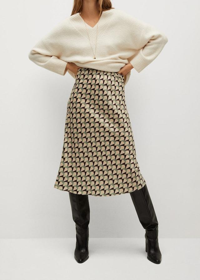 Falda estampada del Black Friday de Mango