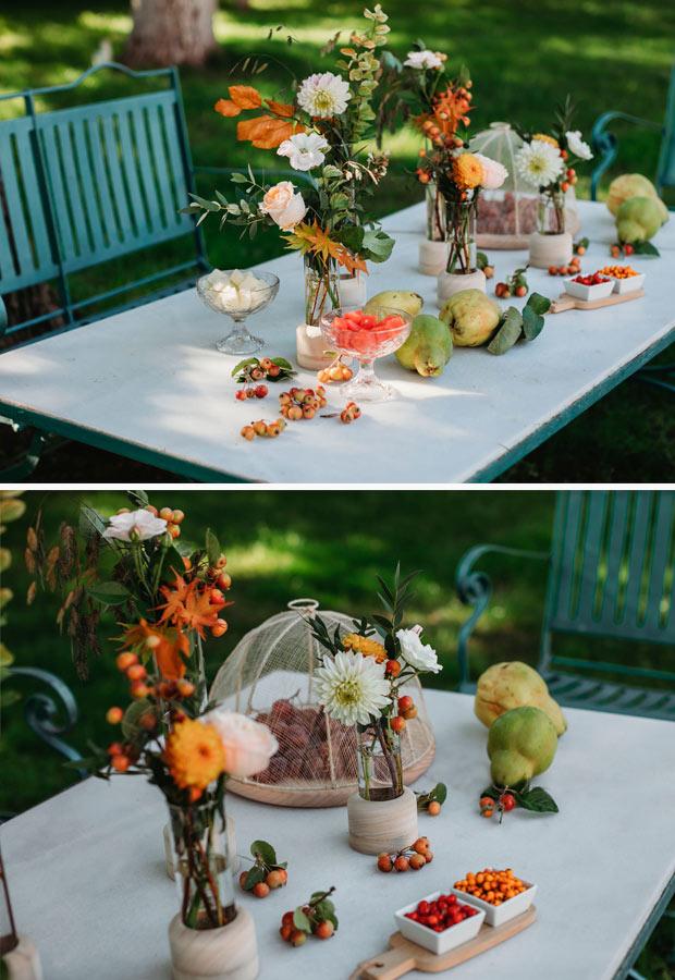 Decoración de boda íntima