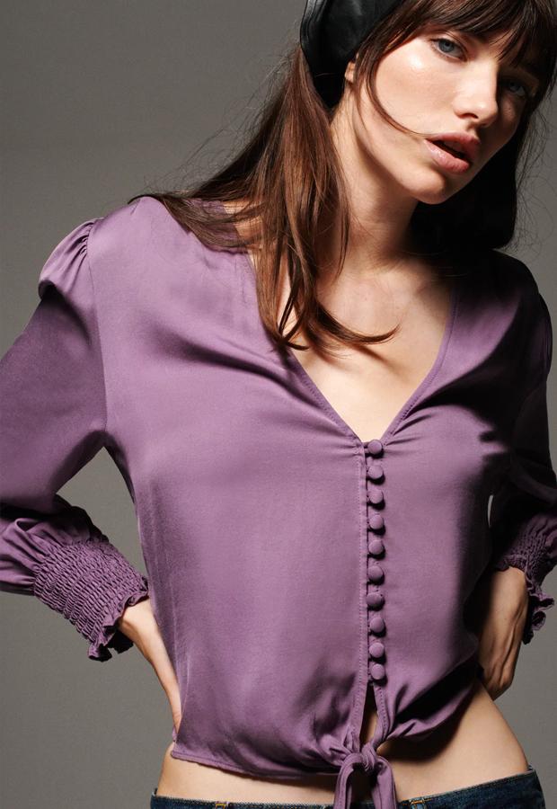 Blusa malva de los Special Prices de Zara