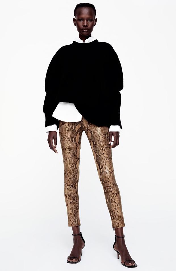 tendencia leggings zara efecto piel