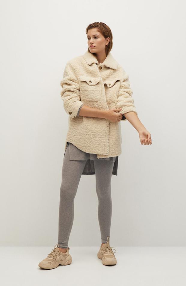 tendencia leggings mango gris