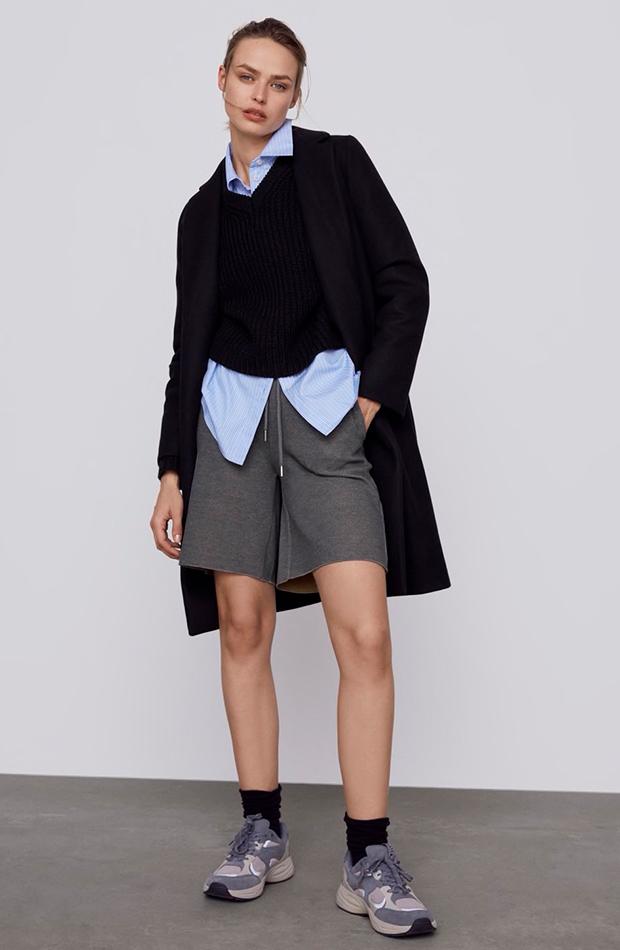 Abrigo negro novedades de Zara
