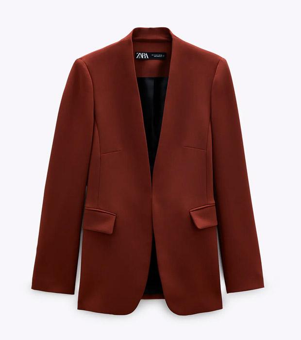 Blazer de Zara burgundy