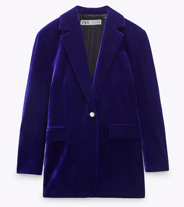 Blazer de Zara azul