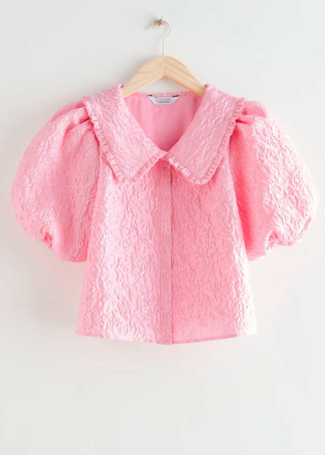 Blusa rosa texturizada de Other Stories