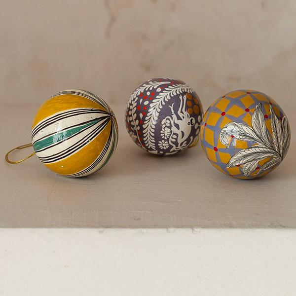Bolas para mesa de Navidad