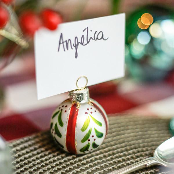 Marcadores de puestos de mesa de navidad
