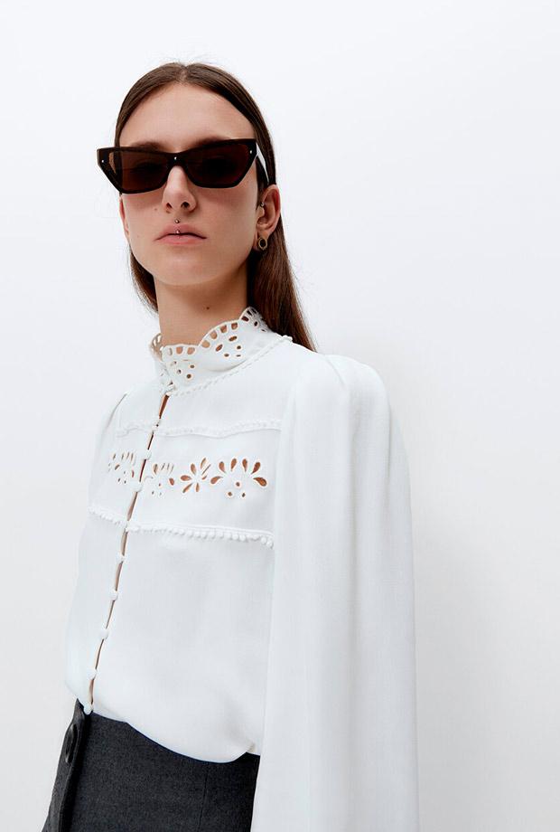 Camisa con bordados de lo nuevo de Uterqüe