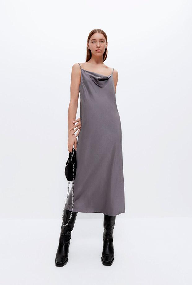 Vestido lencero de lo nuevo de Uterqüe