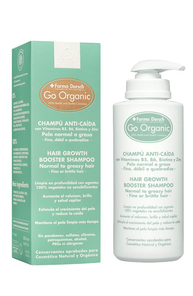 productos para el pelo más vendidos: Champú Go Organic de Fridda Dorsch