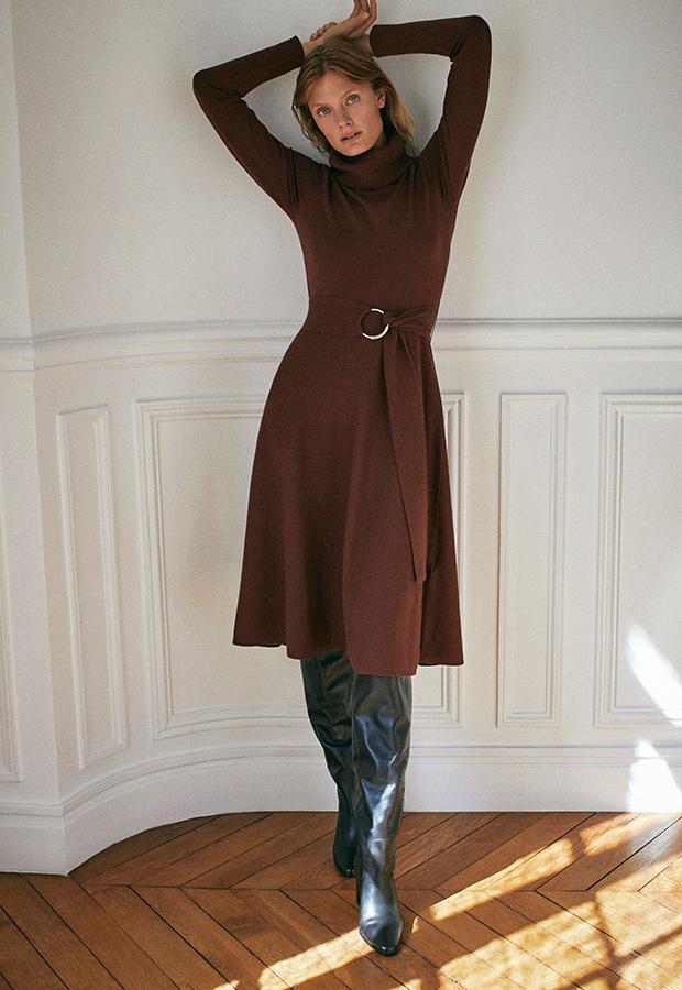 Vestido de punto de Massimo Dutti