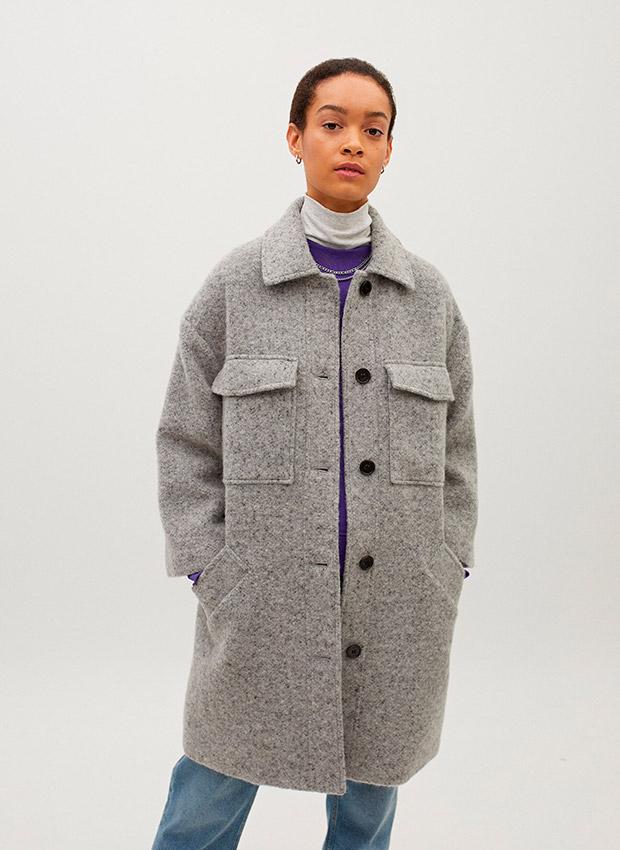 Abrigo gris de Parfois